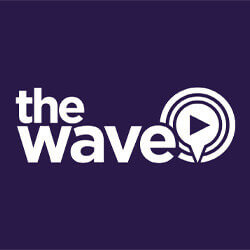 96.4 The Wave logo